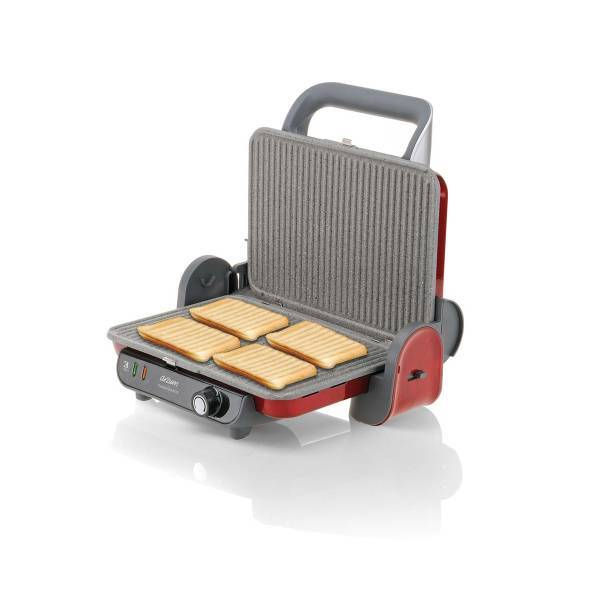 AR2006 Panini Granite Grill and Sandwich Maker - Pomegranate