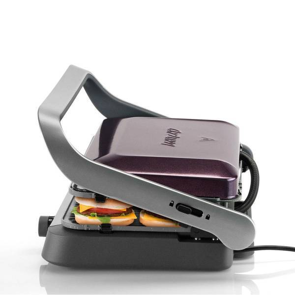 AR2019 Tostçu Delux Grill and Sandwich Maker - Deep Plum