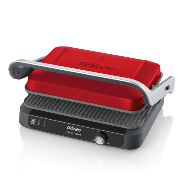 AR2027 Tostçu Delux Grill and Sandwich Maker - Pomegranate
