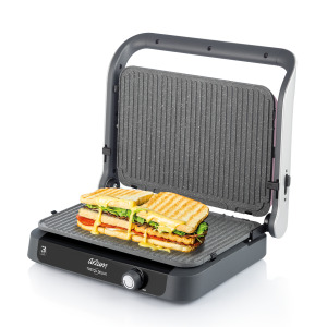 AR2027 Tostçu Delux Grill and Sandwich Maker - Pomegranate - Thumbnail