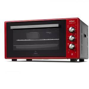 Arzum - AR2034 Cookart Color 50Lt Double Glassed Oven - Pomegranate