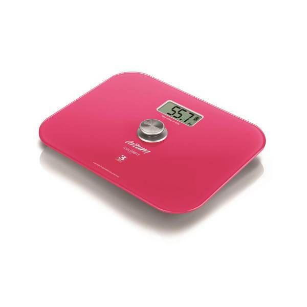 AR5034 Colorfit Eco - Friendly Glass Bathroom Scale - Pink