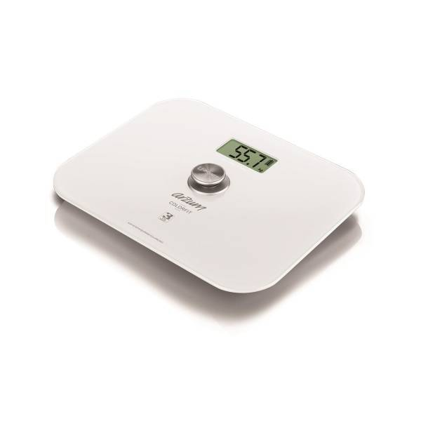 AR5034 Colorfit Eco - Friendly Glass Bathroom Scale - White