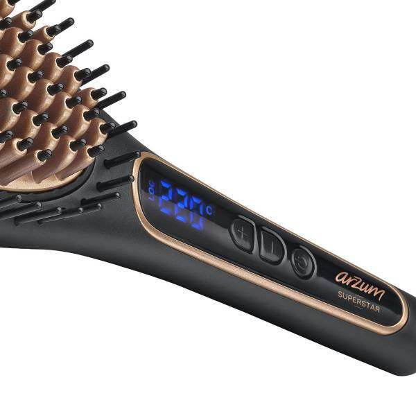 AR5036 Superstar Hair Straightening Brush - Black