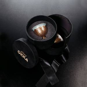 OK905 OKKA İsmail Acar Coffee Cup Set of Two - White - Thumbnail