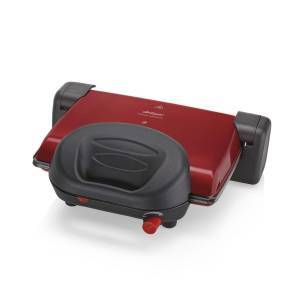 Arzum - Refurbished - AR2012 Prego Granite Grill and Sandwich Maker - Red